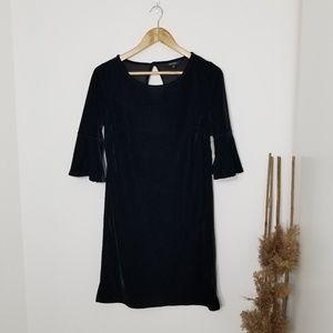 George |NWT Black Velvet Bell Sleeve Dress Size XS